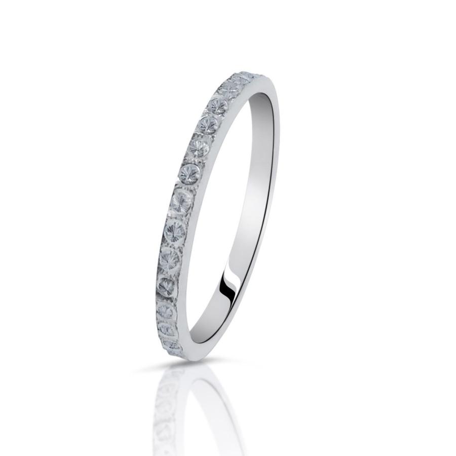 anello sottile donna argento 925 fermanello