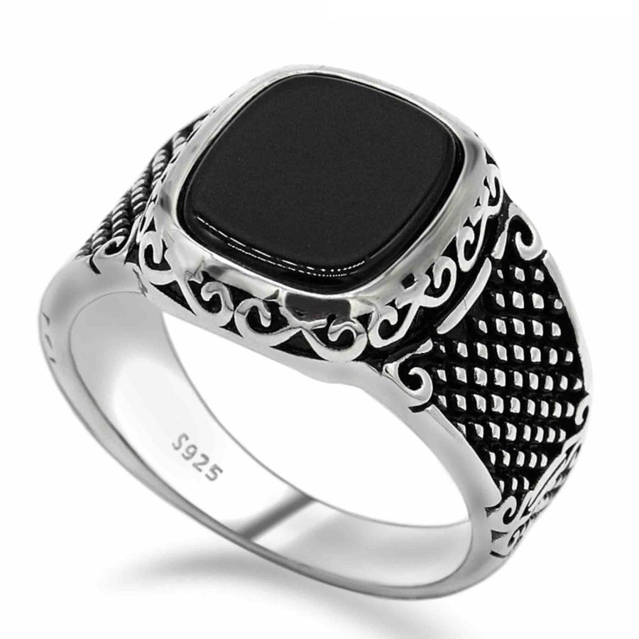 anello con pietra chevalier argento 925