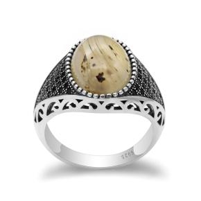 anello argento 925 chevalier con pietra