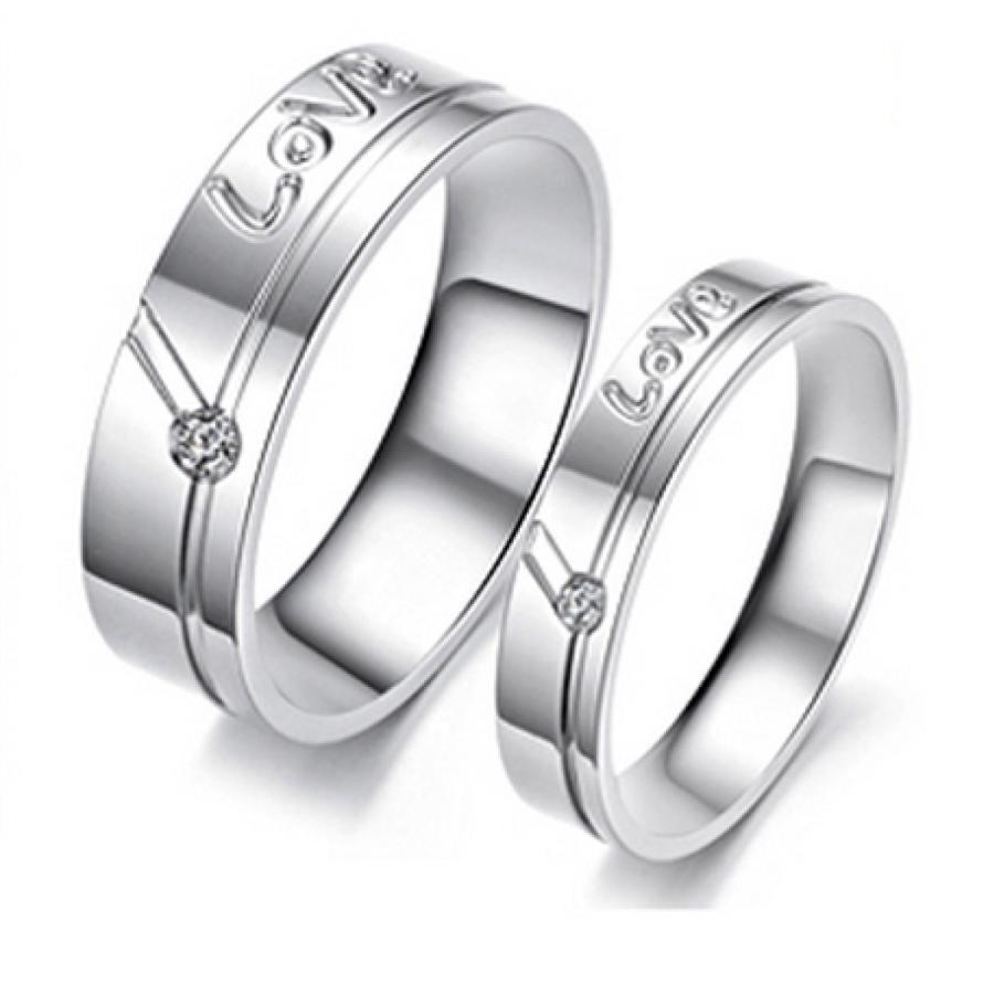 Fedine Fidanzamento in Acciaio Inox...