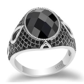 anello con pietra argento 925