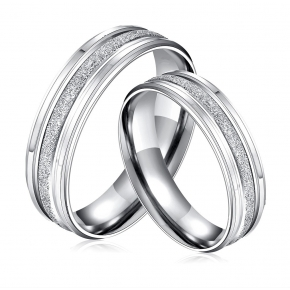 Coppia anelli fidanzamento in acciaio